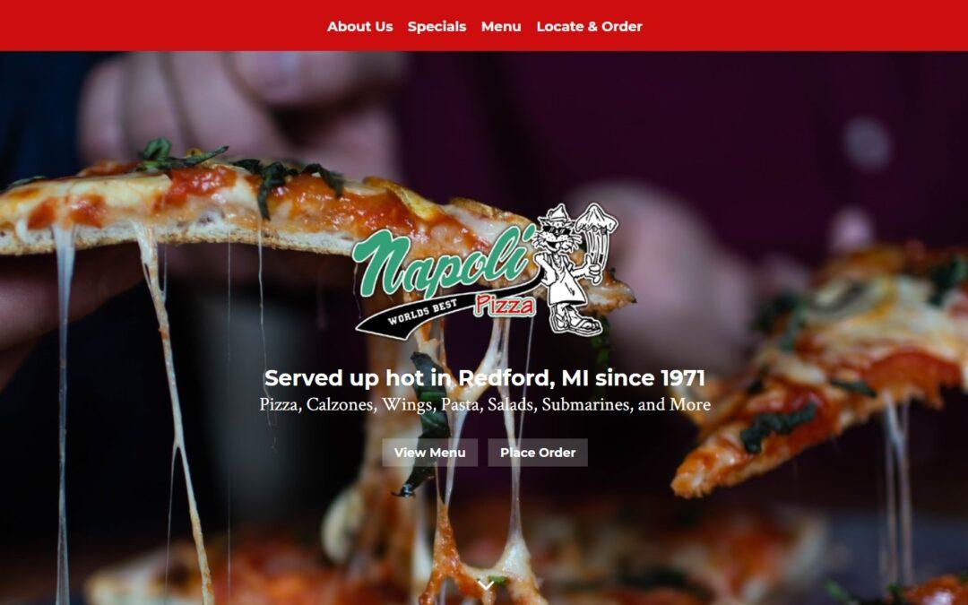 Napoli Pizza 2020 Homepage Screenshot